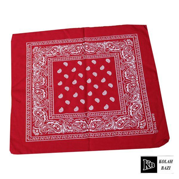 دستمال سر قرمز طرح دار