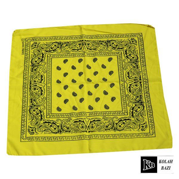 دستمال سر زرد طرح دار