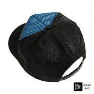 کلاه پشت تور دار آبی