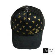 کلاه پشت تور دار طلایی مشکی
