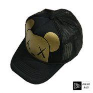 کلاه پشت تور مشکی طلایی