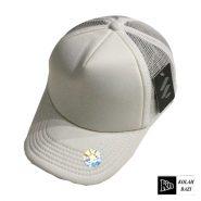 کلاه پشت تور سفید ساده