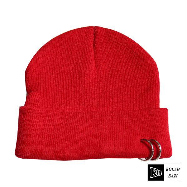 کلاه تک بافت قرمز پلیسه دار دو تایی