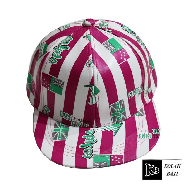 کلاه کپ چرم طرح دار