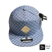 کلاه کپ چهارخونه آبی
