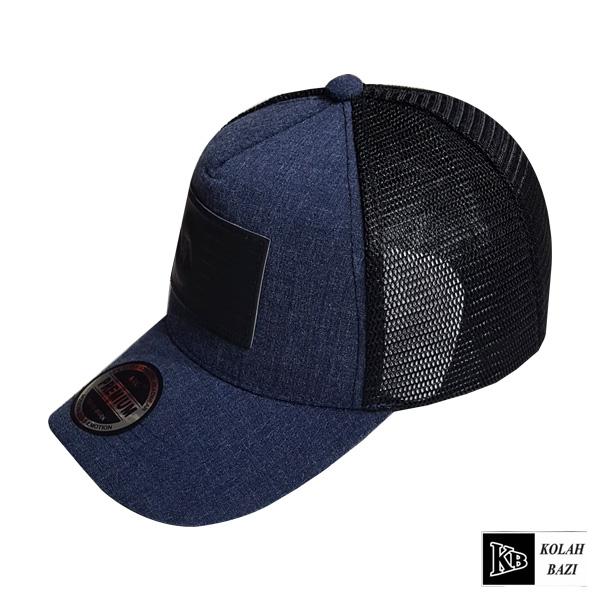 کلاه پشت تور آبی