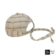 کلاه لئونی چهارخونه سفید