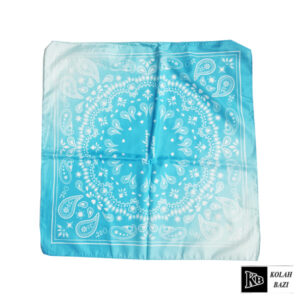 دستمال سر آبی طرح دار
