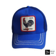 کلاه پشت تور آبی خروس