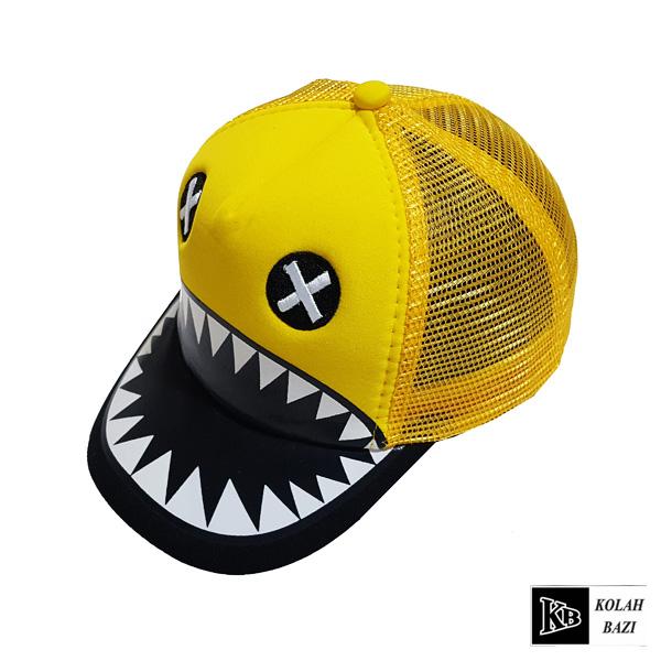 کلاه پشت تور بچه گانه زرد