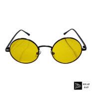 عینک مدل شیشه گرد مشکی زرد