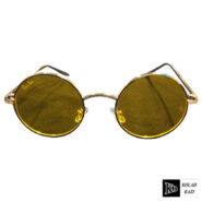 عینک شیشه گرد زرد