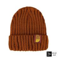 کلاه تک بافت قهوه ای