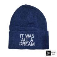 کلاه تک بافتنی آبی