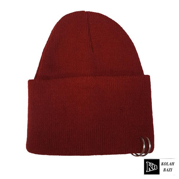 کلاه تک بافتنی زرشکی