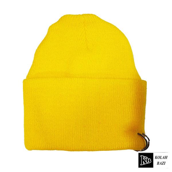 کلاه تک بافتنی زرد