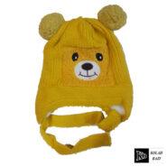 کلاه تک بافت بچه گانه زرد