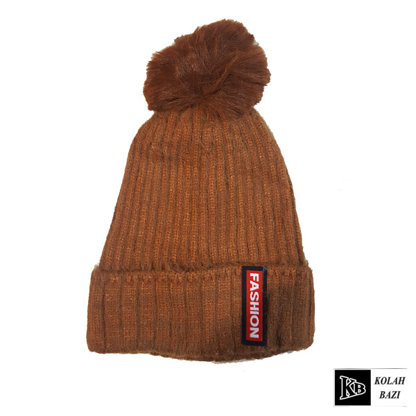 کلاه تک بافت بچه گانه قهوه ای