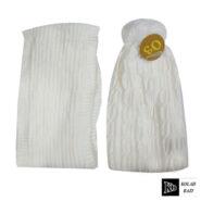 شال و کلاه بافت سفید