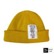 کلاه لئونی بافت زرد