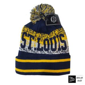 کلاه تک بافت سرمه ای زرد