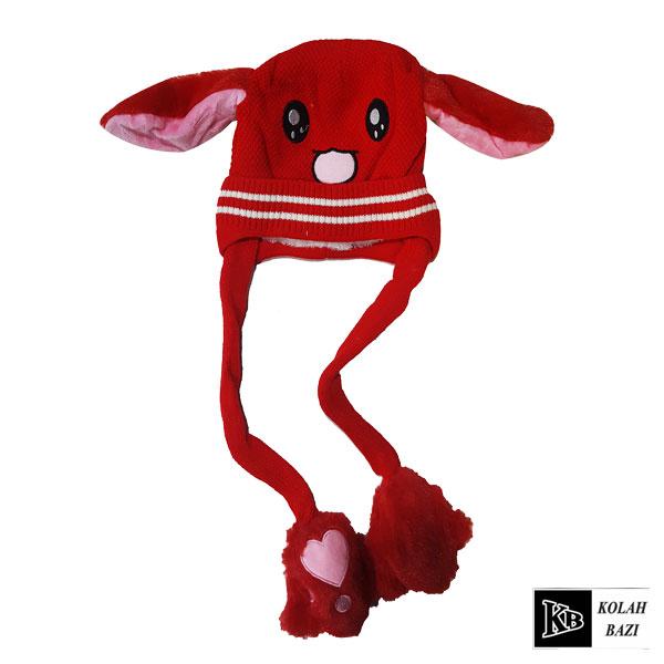 کلاه تک بافت قرمز گوش دار