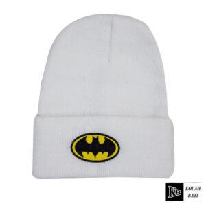 کلاه تک بافت سفید بتمن