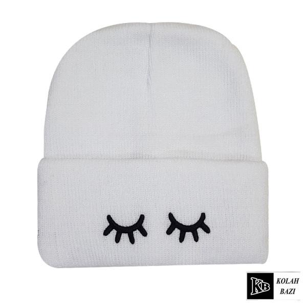 کلاه تک بافت سفید پلک
