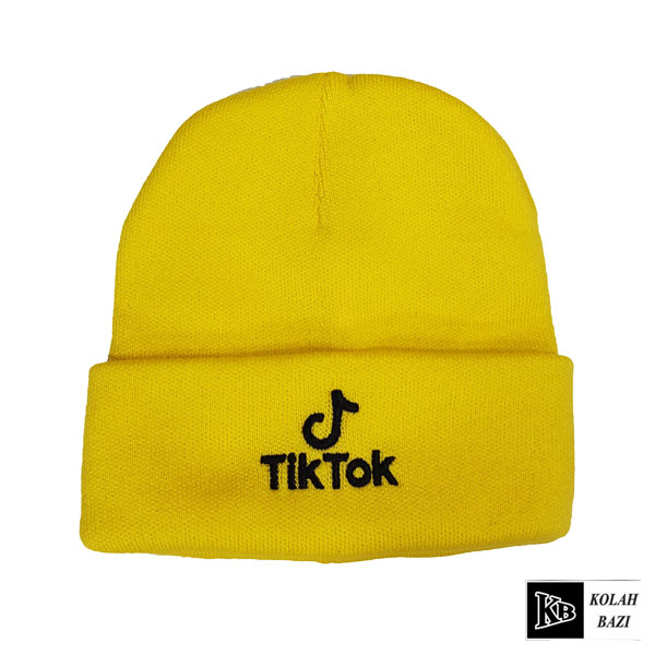 کلاه تک بافت تیک توک زرد