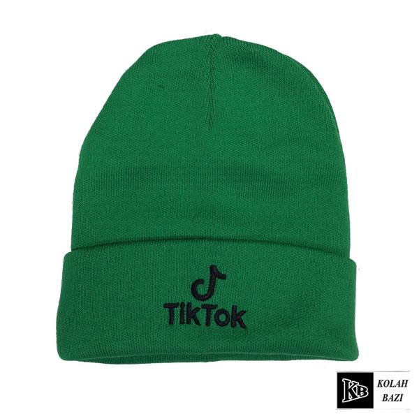 کلاه تک بافت سبز تیک توک
