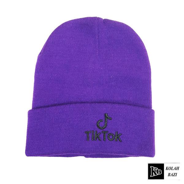 کلاه تک بافت تسک توک بنفش