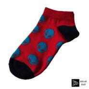 جوراب مچی قرمز آبی