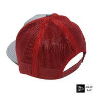 کلاه پشت تور طوسی قرمز