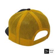 کلاه پشت تور مشکی زرد
