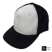 کلاه پشت تور مشکی سفید