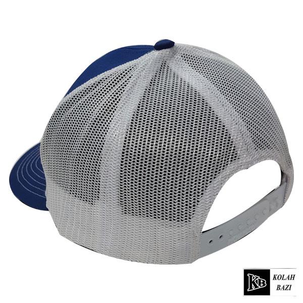 کلاه پشت تور آبی سفید