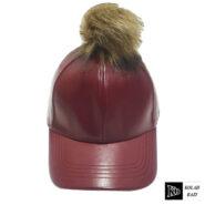 کلاه بیسبالی چرم پوم دار