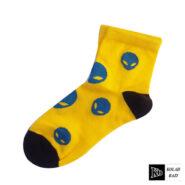 جوراب زرد آبی