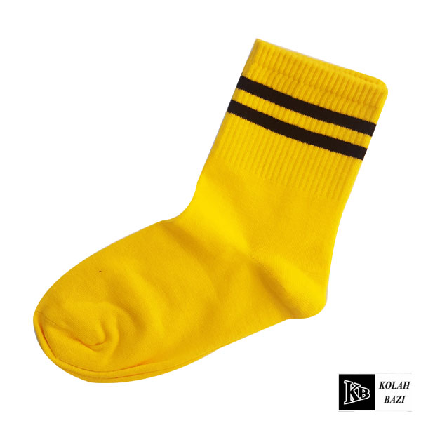 جوراب زرد مشکی