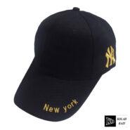 کلاه بیسبالی مشکی طلایی