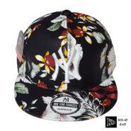 کلاه کپ مشکی گل دار
