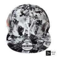 کلاه کپ مدل سفید طوسی