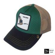 کلاه پشت تور سبز طلایی