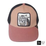 کلاه پشت تور صورتی